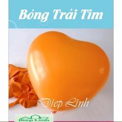 Bộ 100 Bong bóng trái tim hàng  Thái Lan màu cam - Diệp Linh