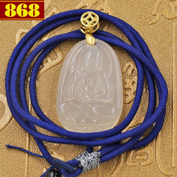 Dây chuyền Phật bản mệnh A Di Đà 3.6 cm trắng