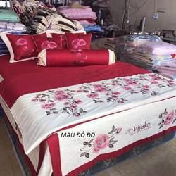 Xả kho duy nhất 3 ngày bộ chăn ga cotton satin cao cấp vườn hồng