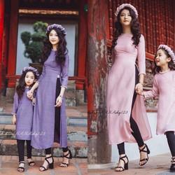 Sét bộ áo dài mẹ và bé kèm mấn ko kèm quần