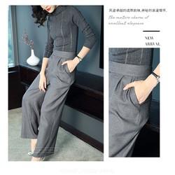 Set áo len và quần ống rộng KL44117