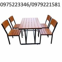 bàn ghế nhà gỗ thông