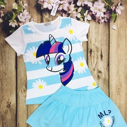 Set áo váy đầm Ngựa Pony dành cho bé gái từ 28kg -50kg