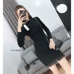 Đầm body len viền ren hông tay dài hàng nhập! MS: S121173 Giá sỉ: 125k