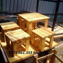Bàn ghế gỗ cốc mini giá rẻ