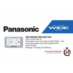 Hạt ổ cắm đôi có màn che Panasonic WEV1582-7SW