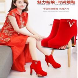 Giày Cô Dâu Tăng Chiều Cao 5-6-7-8-10-12cm Hàng Nhập Không Thấm Nước