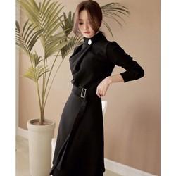 Đầm công sở tay dài kèm belt - Size S M L