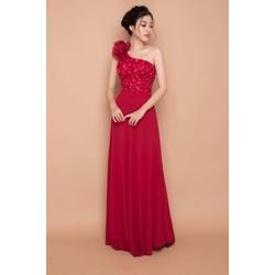 Đầm dạ hội lệch vai cực xinh