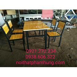 thanh lý bàn ghế quán ăn nhà hàng gỗ thông