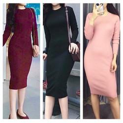 Đầm Body Len Tăm Hot Sale Giá Sốc