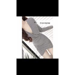 Đầm body thun đắp vạt tay dài hàng nhập! MS: S131153 Giá sỉ: 125k