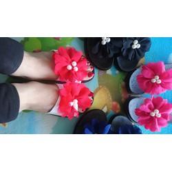 Dép hoa vải voan