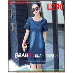 Đầm jean nữ phom suông DJE192