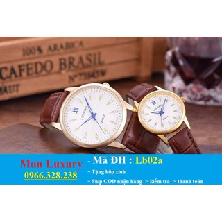 Đồng hồ đôi dây da chống nước - LB02a thumbnail
