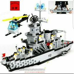 Lego Enlighten 112 Xếp hình tàu pháo tuần dương có bãi đáp trực thăng