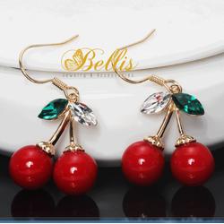 Bông tai thời trang cherry đỏ xinh xắn