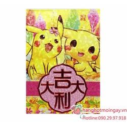 combo 6 bao lì xì pokemon