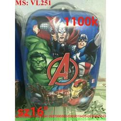 Vali kéo du lịch cho bé biệt đội siêu anh hùng VL251