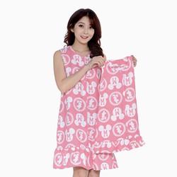 Đầm mẹ và bé họa tiết dễ thương