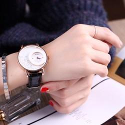 Đồng hồ đeo tay  dây da đính đá WF610131026