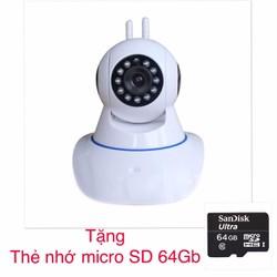 Bộ camera quan sát IP Wifi   và thẻ nhớ 64GB
