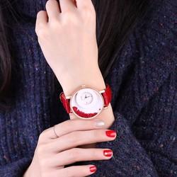 Đồng hồ đeo tay  dây da đính đá WF610181027