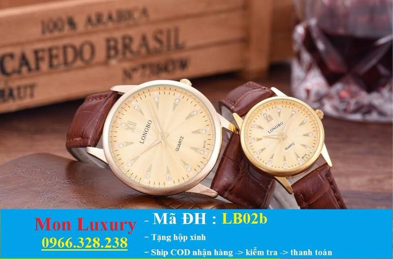 Đồng hồ đôi dây da chống nước - LB02a 2