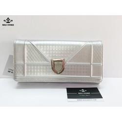 ví cầm tay trắng bạc diors FREE SHIP