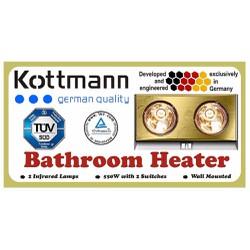 Đèn sưởi nhà tắm 2 Bóng Thương Hiệu Đức