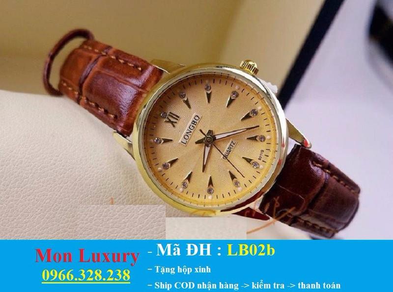 Đồng hồ đôi dây da chống nước - LB02a 3