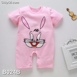 Bodysuit áo liền quần in hình con thỏ cho trẻ sơ sinh giá rẻ