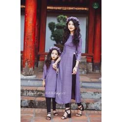 Sét bộ áo dài mẹ và bé kèm mấn ko kèm quần AD106
