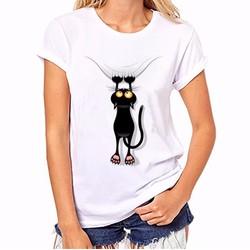 Áo thun hình con mắt con mèo khuyến mãi sốc 20k