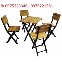 bàn ghế xếp chân sắt bán tại nơi sản xuất