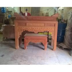 Án thờ - bàn thờ cặp mẹ bồng con gỗ gõ đỏ 1m54