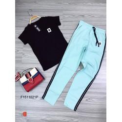 Set áo thun số 9 quần dài kaki viền hàng tk MS: S151103 sỉ: 120k