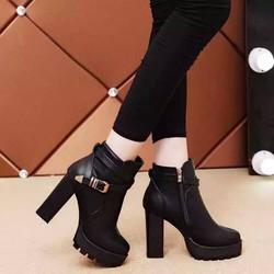 Giày bốt nữ cao gót sang chảnh