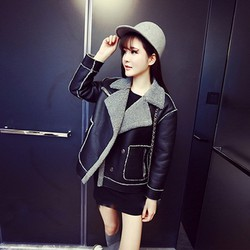 Áo da nữ siêu đẹp chất tốt thời trang cá tính Size S