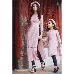 Sét bộ áo dài mẹ và bé kèm mấn ko kèm quần TVAD107