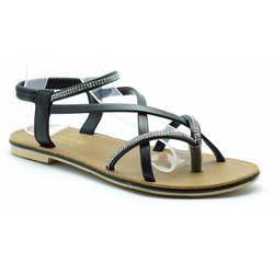 sandal dây mùa hè-PRIN45-XÁM-HỒNG-TRẮNG-KEM-ĐEN