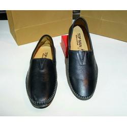 giày lười vân đà điểu mà đen