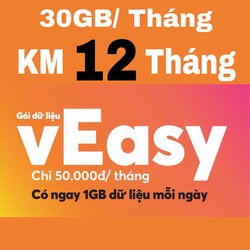 SIM VIETNAMOBILE 30GB