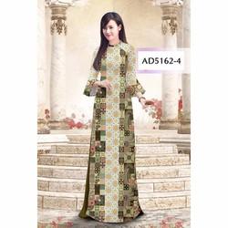 Vải áo dài hoa văn cổ điển