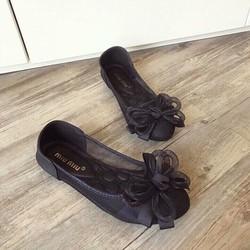 giày búp bê nơ lưới