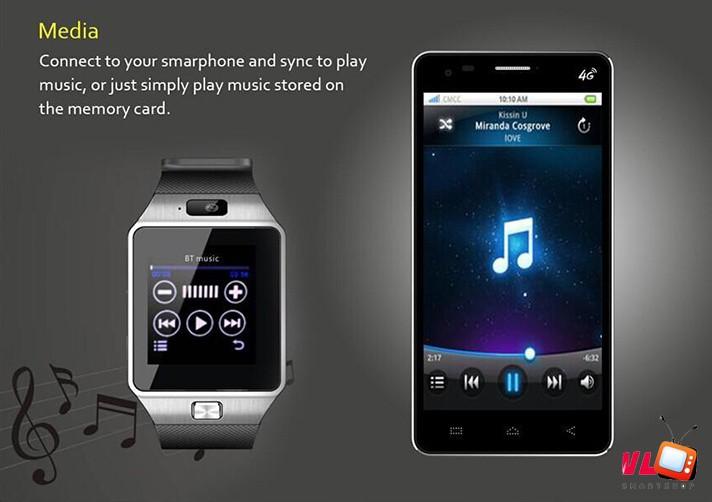 Đồng Hồ Thông Minh Smart Watch DZ09 Gold 17