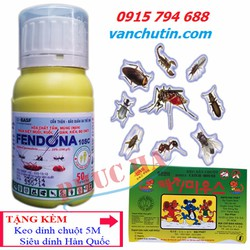 Thuốc xịt diệt côn trùng Fendona 50EC Tặng Keo dính chuột