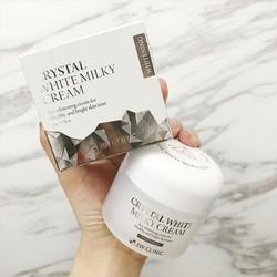 Kem dưỡng trắng da 3w Clinic Crystal White Milky Cream