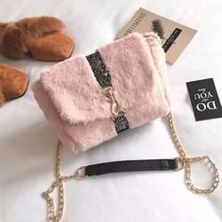 Túi đeo chéo lông bông - G08878