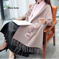 Áo choàng len nữ kiểu Hàn Quốc - giá 580k -TX48638